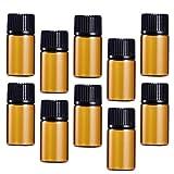 Cabilock Praktische 30 Stück 3 ml Mini-Glasfläschchen mit Deckel für ätherische Öle, Chemielabor, Probenb