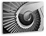 deyoli gekrümmte Wendeltreppe Effekt: Zeichnung Format: 60x40 als Leinwandbild, Motiv fertig gerahmt auf Echtholzrahmen, Hochwertiger Digitaldruck mit Rahmen, Kein Poster oder Plakat