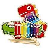 Zuzer Xylophon für Kinder,2PCS Glockenspiel Holz Spielzeug Xylophon Kinder Musikinstrument Schlagzeug Schlagwerk Spielzeug Holzspielzeug