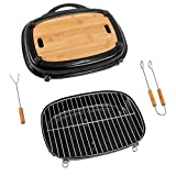 ACTIVA Pick Nick Grill Box 2020 schwarz Pick-Nick-Grill Grill-Box Campinggrill Holzkohlegrill Tischgrill Kleiner Grill