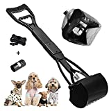 XCOZU Pooper Scooper 60cm Hundekotschaufel mit Müllsäcke, Faltbare Kotschaufel mit langem Griff für Hunde und Katzen Geeignet für Rasen im F