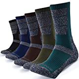 KEECOW Socken Herren 43-46 5 paar Wandersocken Trekkingsocken für Herren Atmungsaktiv Sportsocken Hochleistung (Schwarz / Blau / Dunkelgrün)