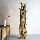 Möbel Bressmer Design Stehlampe Natur 150 cm hoch Holz Holzlampe Unikat Natur Treibholz Handarbeit Stehleuchte | Standlampe mit e27 Fassung für Schlafzimmer Wohnzimmer Büro