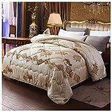 YRRA 99% Kamelhaar Decke, Flauschige Winter Tröster 100% Baumwolle Winter Soft Warm Bed Quilt, Für Hauptschlafzimmer Bettwäsche,Braun,150x200cm(2kg)