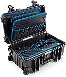 B&W Werkzeugkoffer Jumbo 6600 mit Gasdruckfedern (mit Werkzeugeinsteckfächer, Koffer aus PP, Volumen 26,4 l, Innenmaße 500x285x185 mm, ohne Werkzeug) 117.20/P-G