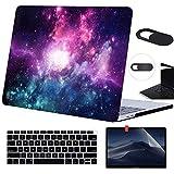 Funut Laptop-Hülle für MacBook Air 13 Zoll 2020 2019 2018 Release A2337 M1/A2179/A1932 Kunststoff Hardcase mit Displayschutzfolie Tastatur Abdeckung Webcam Cover Mac Air 13 mit Touch ID C