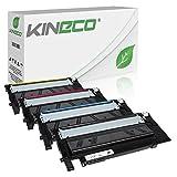 4 Toner kompatibel für Samsung Xpress C430 SL-C430W/TEG C480 C480fw C480w Farblaserdrucker - CLT-P404C/ELS - Schwarz 1500 Seiten, Color je 1000 Seiten