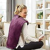 Wärmekissen Nacken, Schulter, Rücken,Elektrisches Nackenheizkissen,Rückenheizkissen & Schulterwärmer Mit Abschaltautomatik,Überhitzungsschutz, Waschbar