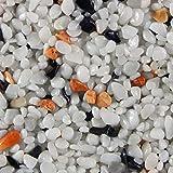 Terralith Marmor - Steinteppich mix palermo für 1 qm - außen -, Körnung:grob (6-10 mm)