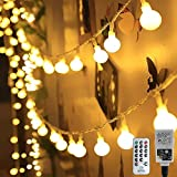 HAUSPROFI 100er LEDS Kugel Lichterkette 10M Dimmbar, Globe Lichterkette mit EU Stecker für Innen und Außen, 8 Leuchtmodi, ideale Partylichterkette für Weihnachtsdeko, Hochzeit, Party usw, Wasserdicht
