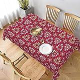 Dekorative Tischdecke, Tischwäsche, Blumenmuster, Mosaik, Rot