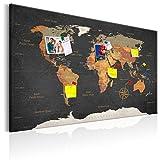 murando - Weltkarte Pinnwand & Vlies Leinwandbild 90x60 cm 1 Teilig Kunstdruck modern Wandbilder XXL Wanddekoration Design Wand Bild - Landkarte Karte Reise Geographie k-C-0048-v-a