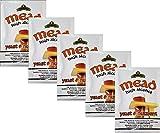 Hugbert Weinhefe, Honigwein Hefe, Mead Hefe + Nährstoff auf 25L Alkohol Gärhefe Brennhefe, Wein, 5 Stück