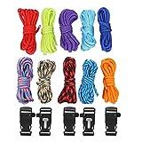 Multifunktionales Paracord, 10 Stück 3 Meter Multifunktionales Paracord-Seil Outdoor Survival Rope Set zur Herstellung von Affenfäusten, Verbindungsmittel, Schlüsselanhänger, Karabiner, Hundehalsband