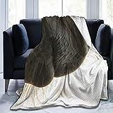 Cap pillow Fleecedecke 127 x 152,4 cm – Pferde-Maulkorb Hintergrund Zuhause Flanell Fleece weich warm Plüsch Überwurf Decke für Bett Couch Sofa Büro Camping