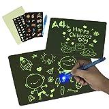 SKYREAT A4 (29,4 cm) magisches Zeichenbrett, leuchtet im Dunkeln, mit Licht, für Kinder, Malbrett, Lernspielzeug und Entwicklung von Zeichenfähigkeiten für Kleinkinder, Mädchen, Jungen ab 3 Jahren