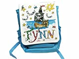 Kindergartenrucksack mit Namen, Piratenschiff, Rosirosinchen, personalisierter Kinderrucksack