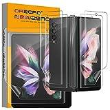 NEWZEROL 2 Sätze Kompatibel für Samsung Galaxy Z Fold 3 5G Displayschutz, Einschließlich äußerer Displayschutz + Innerer Displayschutz + Rückseitenfolie + Scharnierfolie, 3D TPU Kratzfester Schutz