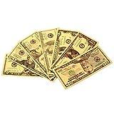 YJZZ New USD 1 2 5 10 20 50 100-Dollar-Schein Geschenk 24K American Gold Foil Banknote Replik gefälschte Banknoten Album Geld Home Decoration G (Farbe : A)