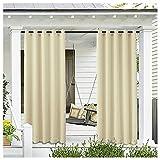ZHANGNING wasserdichte Schicht aus Outdoor-Vorhang mit Tülle für Veranda, Pergola, Pavillon, überdachte Terrasse, Pavillon, Strandhaus (1 Panel)