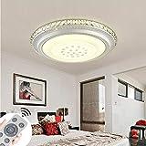 60W LED Deckenleuchte Kristall Dimmbar Deckenlampe für Flur,Wohnzimmer, Küche,Büro, Energie Sparen Licht, Modern Lampe (K-60W Dimmbar)