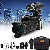 Full HD-Digitalkamera, D7200 33MP 3,0-Zoll-TFT-LCD-Display-Camcorder Kamera DSLR Integrierter 24-Fach Optischer Zoom+1080P HD-Video mit 0,5-Fachem Weitwinkelobjektiv+24-Fachem Teleobjektiv+LED-Licht
