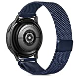 Gaoren Kompatibel mit Samsung Galaxy Watch Active/Active2 40mm 44mm/Watch 3 41mm Armband, 20mm Edelstahl Metall Ersatz Uhrenarmband für Gear Sport/S2 Classic/Garmin Vivoactive 3 (Dunkelblau)