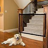 URFEDA Hundegitter für den Innenbereich, Haustierschutzgitter, Haustierisolationszaun, Treppenschutzgitter für Baby, einziehbares Haustierschutzgitter, Netzgitter für Hunde, 180 x 72 cm, Schwarz