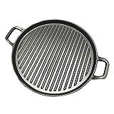 Z-LIANG 30cm dick gestreifte Gusseisen Steak Bratpfanne, Startseite Physikalische Antihaft-Pfanne Kochgeschirr