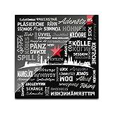 DStern Design KÖLSCHE SPROCH #01 Köln-Untersetzer aus stabilem Echtglas | Köln | Cologne | Glas-Untersetzer | Köln-Geschenk Quadratisch (10cm x 10cm)