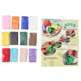 HelloCreate Beliebte, praktische Polymer-Ton, 12 Farben, DIY, weich, umw