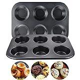 SSPECOTNR 2 Stücke Mini Muffins Backform 6er Muffinform Backblech Antihaft Papierbackförmchen Cupcake Form für Muffins Backform mit Wärmeleitung