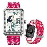 FMSBSC Smartwatch für Damen 1.65 Zoll HD Farbdisplay Fitnessuhr Smart Watch mit Frauengesundheit Bluetooth Telefonie, Fitness Tracker mit Pulsmesser Blutdruckmessung Schlaf SpO2 Monitor,Rosa