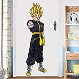 StickersZ Dragon Ball Wandtattoo Wandtattoo Super Saiyan Goku Vinyl Wandtattoo Dragon Ball Z, DBZ Anime Wandkunst, Aufkleber für Kinderzimmer Dekoration-90 * 60CM-A_60*90CM