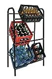 Spetebo Kastenständer XXL für 6 Kisten - Farbe: schwarz - Getränkekistenregal, Kistenständer