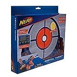 Nerf Elite Digitale Zielscheibe NER0156 interaktive Zielscheibe mit Licht und Sounds und verstellbarem Standbein, trainiere alleine oder im Team