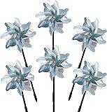 6PCS Windräder Vogelabwehr,Reflektierende Windmühle,Obstgarten Vogelabwehr,Vogelschreck Reflektierende,Vogelabweisende,Balkon Garten Vogelabwehr,Vogelschreck