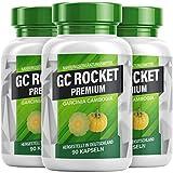 GC ROCKET Premium - Garcinia Cambogia Kapseln | Für Frauen und Männer - 90 Kapseln pro Dose - Hergestellt in Deutschland (3 Dosen)