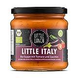 Little Lunch Bio Suppe Little Italy | 350ml | 100% Bio-Qualität | Vegan | Ohne zugesetzten Zucker | Glutenfrei | Laktosefrei | Keine künstlichen Zusätze | Ohne Geschmacksverstärk