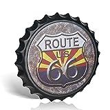 不适用 Metall-Blechschild 'Route 66', Retro-Stil, für Küche, Café, Diner Restaurant, Wanddekoration
