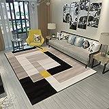 SunYe Modernes Minimalistisches Wohnzimmer rutschfeste Haltbare Teppich Schlafzimmer Schlafzimmer Polyester Verdickte Fußmatten Geeignet Für Hotel Büro Fuß