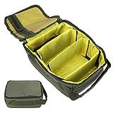 XINMYD Angelrollenbeutel, Aufbewahrungsbeutel für Angelrollenausrüstung 4-lagiger Handheld-Angelrucksack-Reißverschluss-Organizer-Koffer