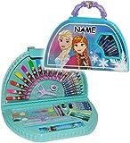 alles-meine.de GmbH 51 TLG. Set __ großer Stifte-Koffer -  Disney Frozen - die Eiskönigin  - incl. Name - Malkoffer mit Stiften - Filzstifte - Bunststifte - Ausmalbilder + Wass..