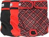 Petsweare wasserdicht saugfähigkeit waschbare robuste Wiederverwendbare Hundewindeln läufigkeitshose inkontinenzunterlage für weiblichen Welpe und Hündinnen 3 Pack (Medium, Scottish Rot)