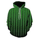 Kisbcynesting Langarm mit Kapuze beiläufigen Männer Hoodies Herbst-Winter-Geometric 3D-Druck-Sweatshirt Streetwears Lose Sport Hoodies wx426 Green M