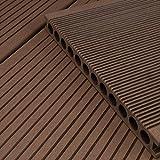 HORI® WPC-Terrassendiele Braun XXL Hohlkammer Diele I Komplettset inkl. 40x60 mm Unterkonstruktion & Clips I Fläche: 30 m² I 4,00 m Dielenlänge