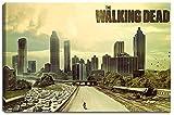 Dream-Arts The Walking Dead Motiv auf Leinwand im Format: 120x80 cm. Hochwertiger Kunstdruck als Wandbild. Billiger als EIN Ölbild! Achtung KEIN Poster oder Plakat!