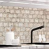StickerProfis Küchenrückwand selbstklebend Pro ALTE Mauer 60 x 400cm DIY - Do It Yourself PVC Sp