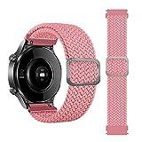 leiai 22mm Watch Strap for Garmin Venu 2 /Amazfit GTR 47mm, Nylon Band WristStrap,Replacement Bracelet Wristband Wrist Strap for Huami Amazfit GTR 2nd Gen/Amazfit Pace/GTR 2e/3 stratoS (Rosa)