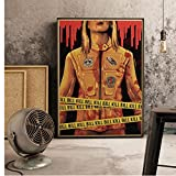 HAOOMOSP Leinwand Kunstwerk Malerei 40x60cm kein Rahmen Poster Kill Bill Vol.1 Quentin Retro Film Bild Kunst Dekor Cafe Bar Wand Dekor Retro Poster Wohnkultur